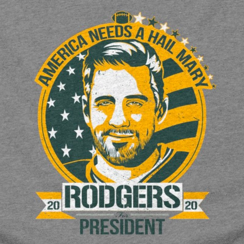 Aaron Rodgers for President 2020 in Men's Triblend T-Shirt Grey Triblend by Curly & Co.