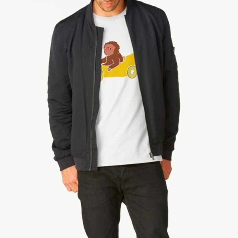 Banana Car in Men's Regular T-Shirt White by damian's Artist Shop