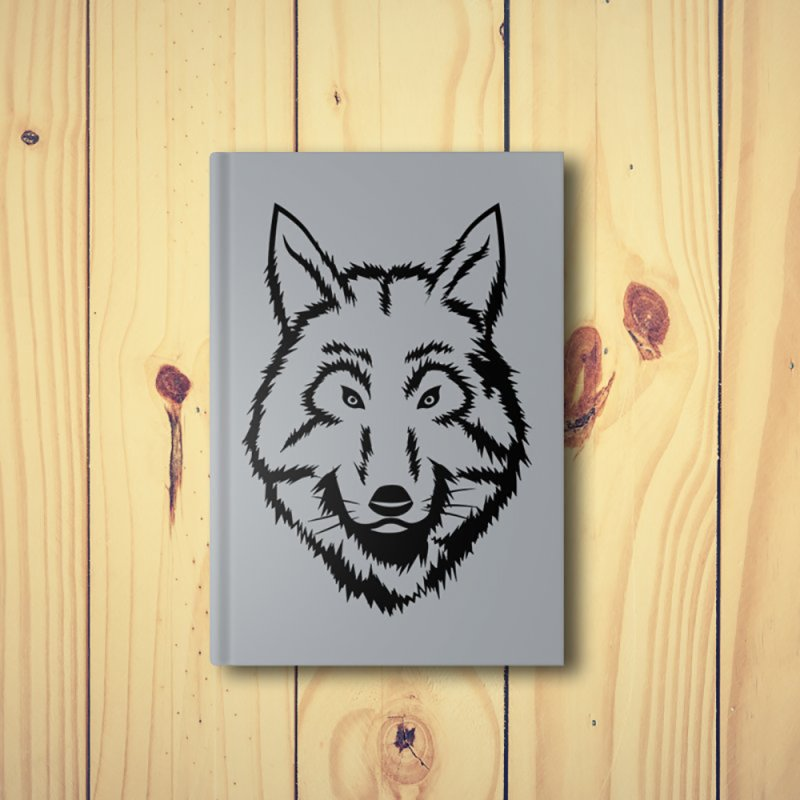 Northern Wolf in Blank Journal Notebook by Synner Design