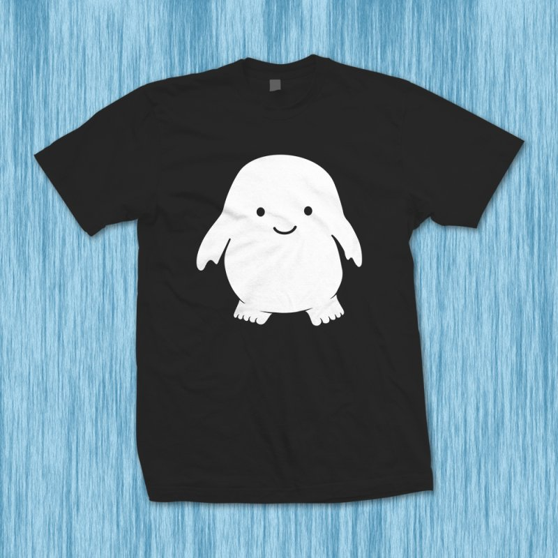 Adipose in Men's Heavyweight T-Shirt Black by Synner Design