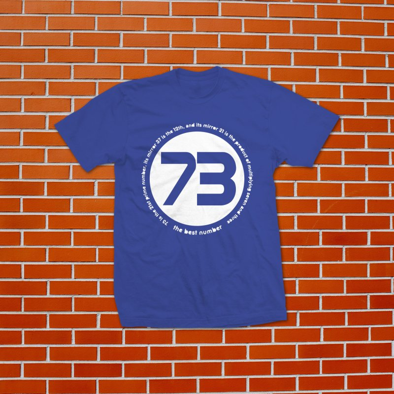 73 is the best number in Men's Regular T-Shirt Royal Blue by Synner Design