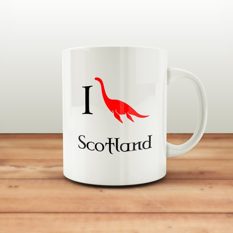 I (heart) Scotland in Standard Mug White by Synner Design
