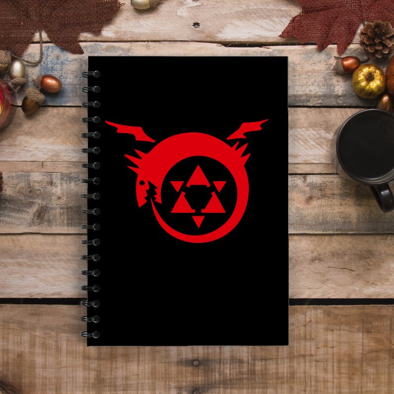 Homunculus in Lined Spiral Notebook by Synner Design
