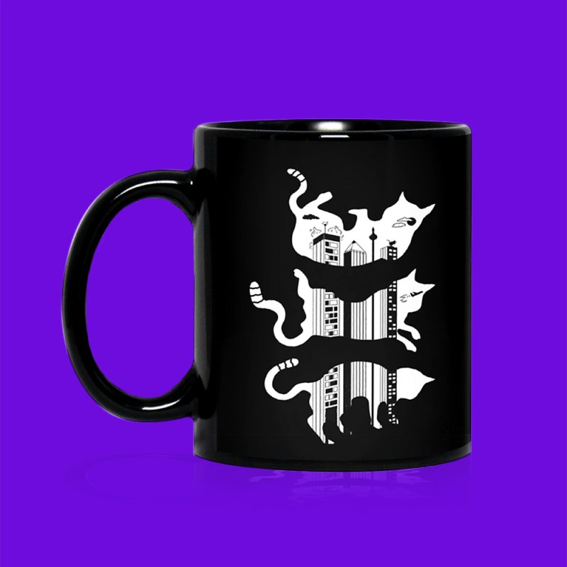 Nine Lives in Standard Mug White by darruda's Artist Shop