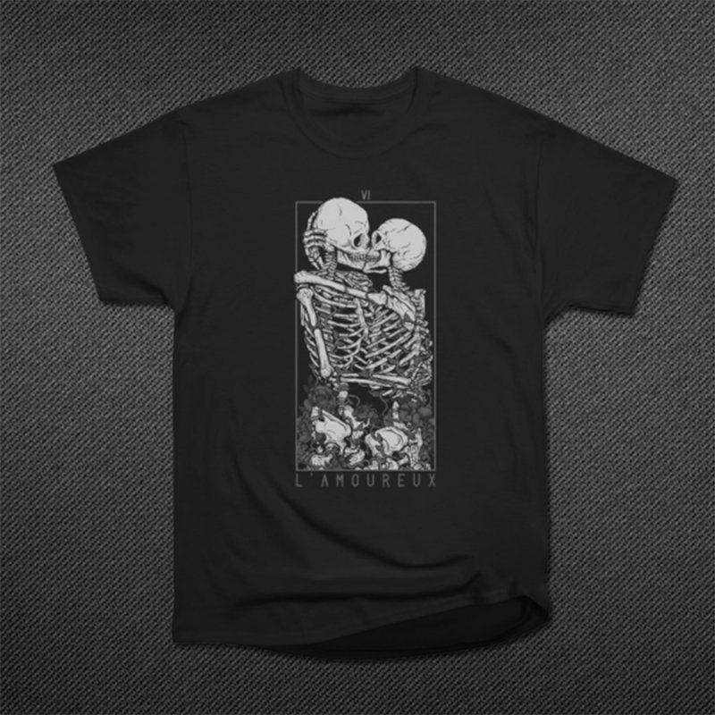 The Lovers in Men's Classic T-Shirt Black by Deniart's Artist Shop