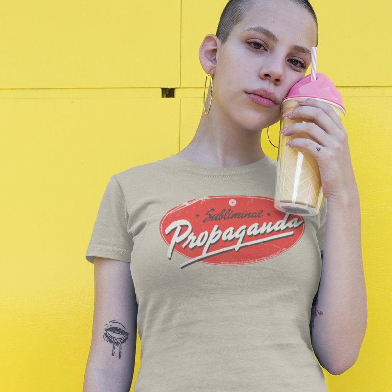 Subliminal Propaganda in Women's Fitted T-Shirt Natural by Propaganda Department