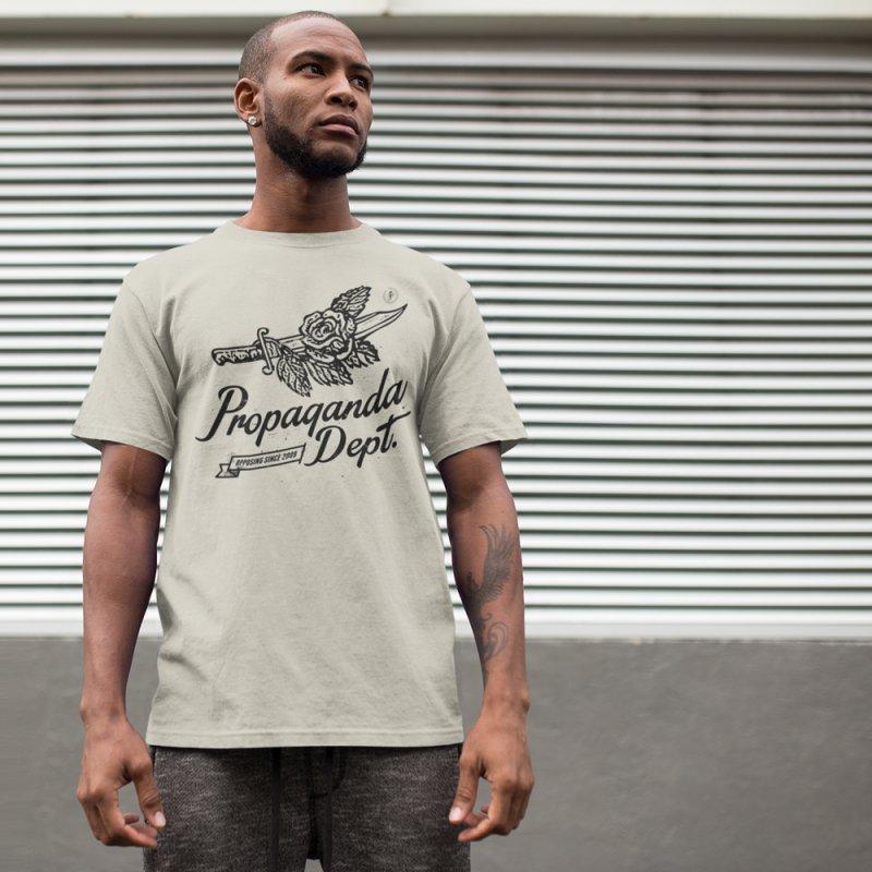 Propaganda Dept. Opposition in Men's Regular T-Shirt Stone by Propaganda Department