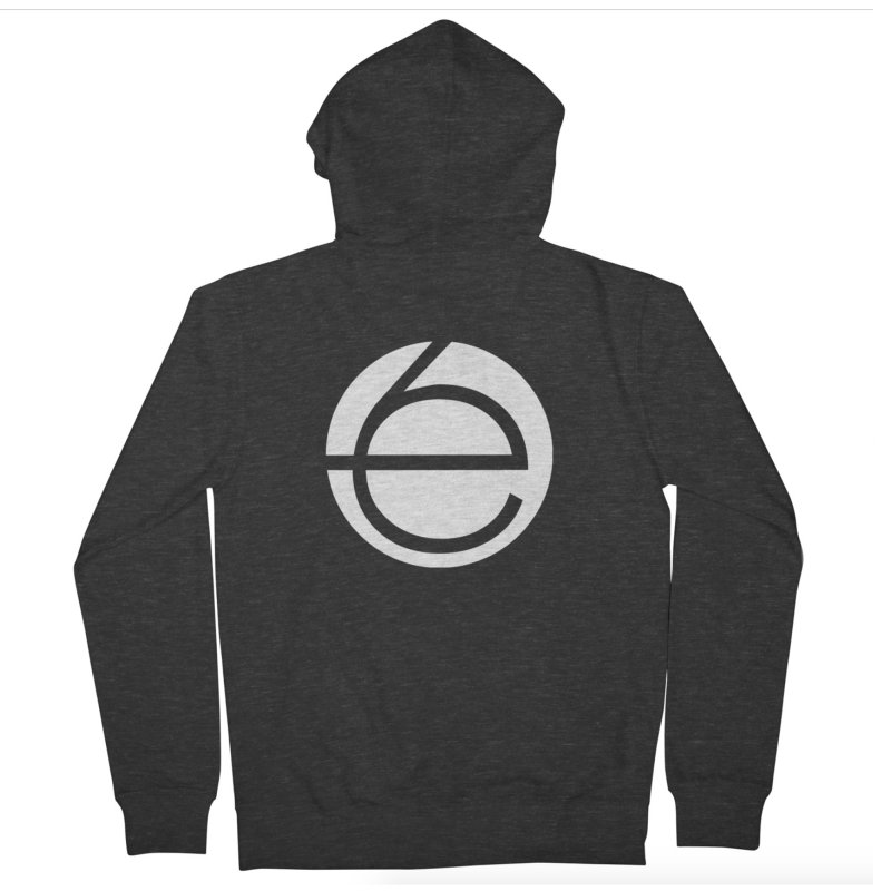 e6 Emblem Zip-Up Hoodies (Printed on Back) by The Early Sixes - Merch