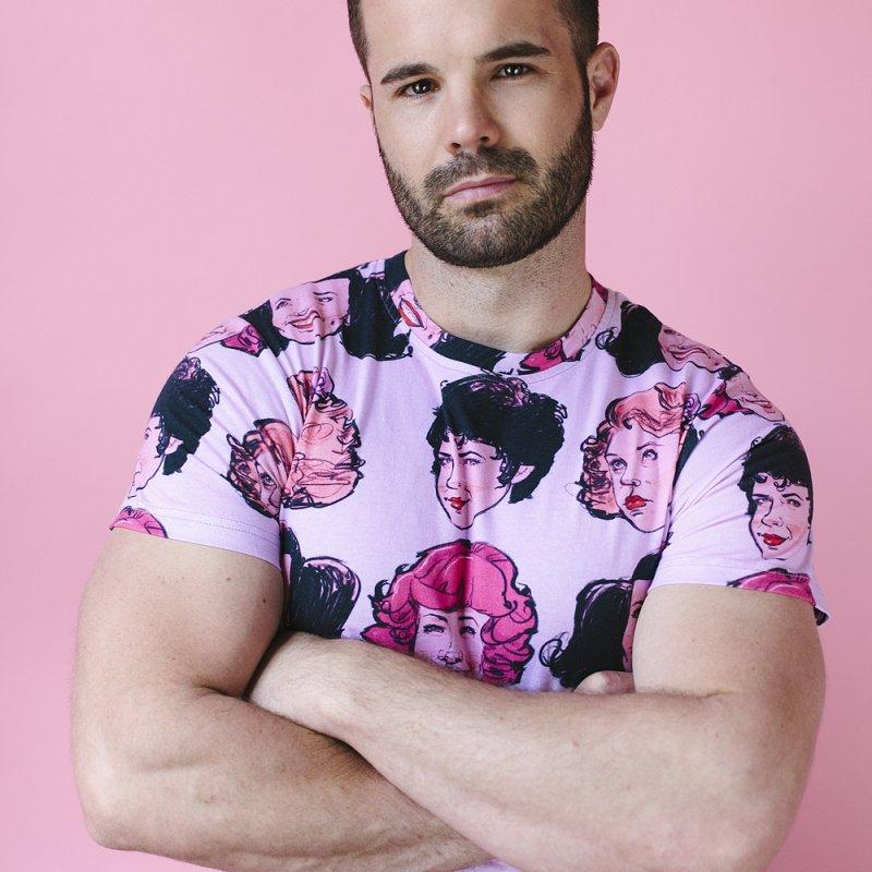 Pink Ladies in Men's Regular T-Shirt White by Ego Rodriguez