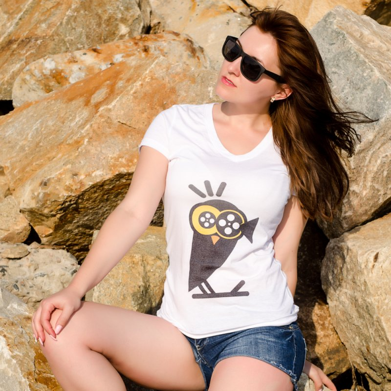 VIDEOWL in Women's Triblend T-Shirt Heather White by EHELPENT