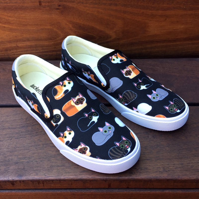 Cat Loaves Sneakers in Women's Slip-On Shoes by ElsaSketch Shop