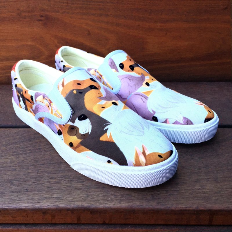 Dog Pack Sneakers in Women's Slip-On Shoes by ElsaSketch Shop