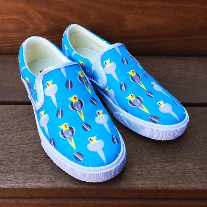 Cockatiel Sneakers in Men's Slip-On Shoes by ElsaSketch Shop