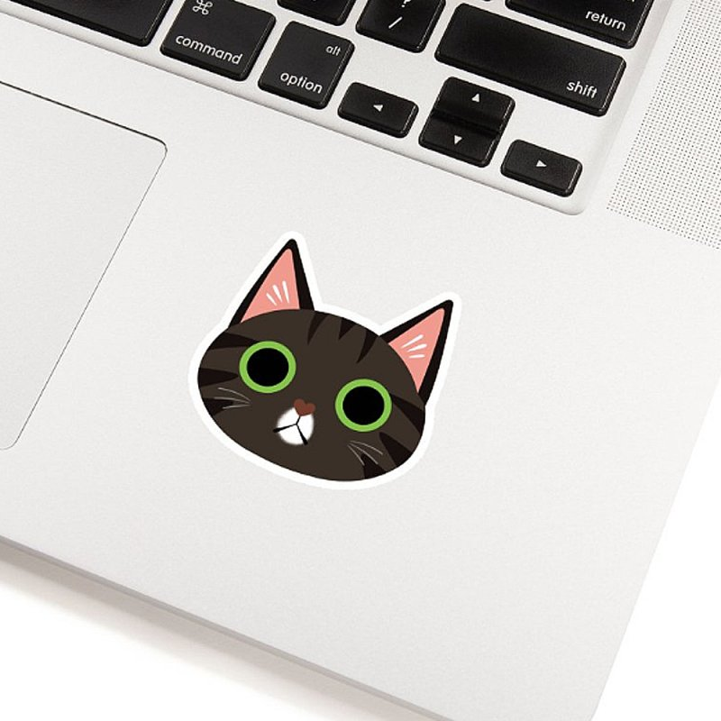 Tabby Cat Sticker in White Sticker by ElsaSketch Shop