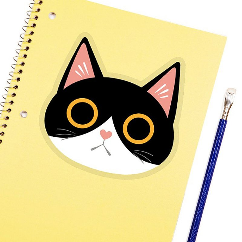 Tuxedo Cat Sticker in Clear Sticker by ElsaSketch Shop