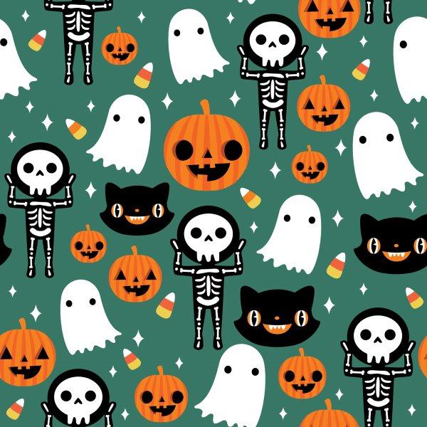 Design for Halloween Fun - Green