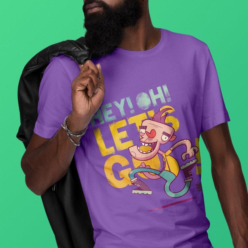 Let's Go! by Frankentoon in Men's Regular T-Shirt Purple by Frankentoon Merchandise