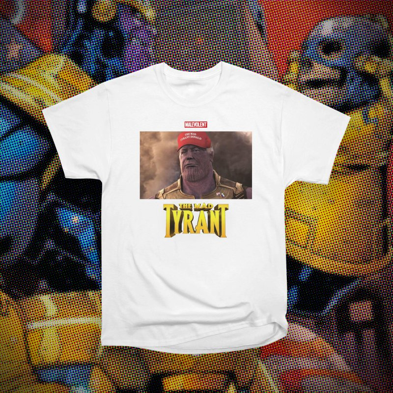 The Mad Tyrant (Red) in Men's Classic T-Shirt White by FWMJ's Shop