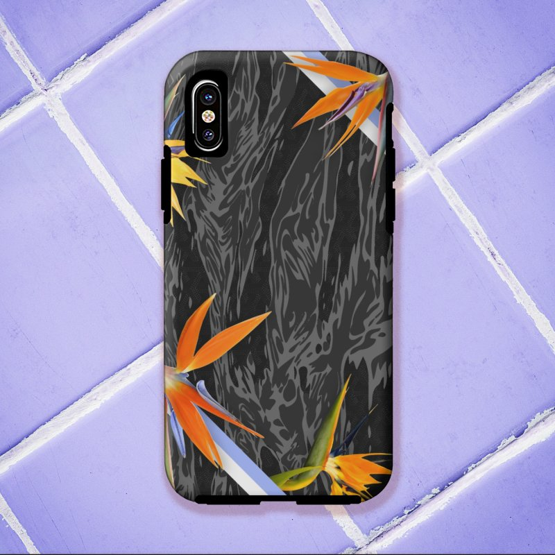 Tigers & Paradise (Shadow) in iPhone X Phone Case Tough by FWMJ's Shop