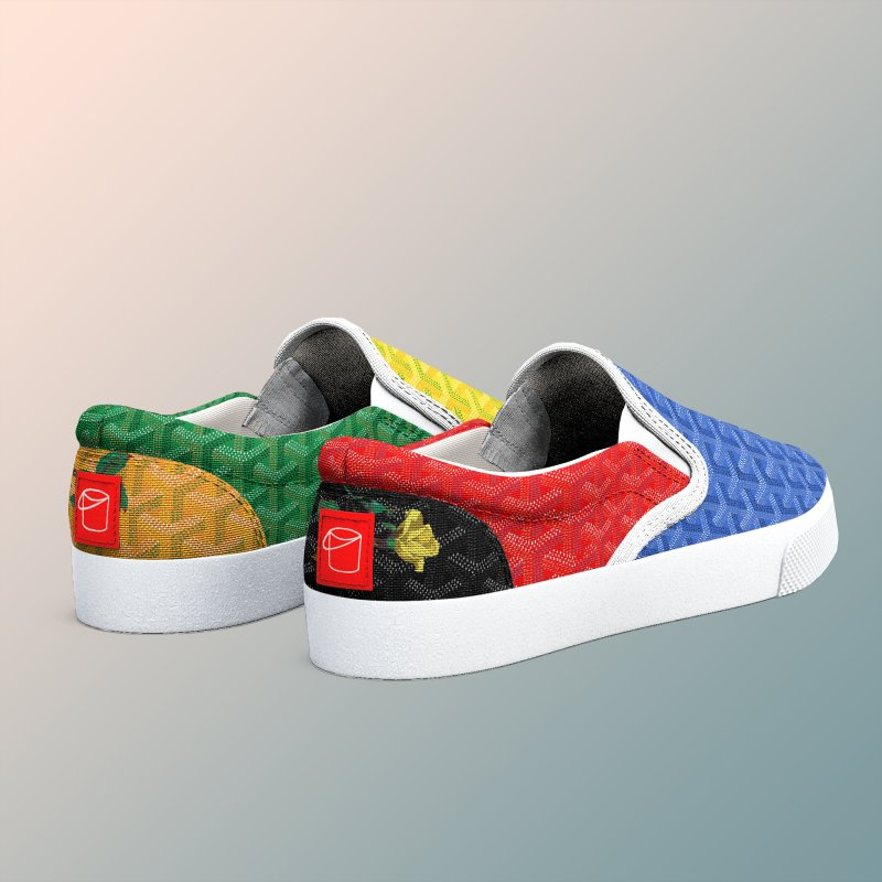 Jardin Goyard (Spectrum) in Men's Slip-On Shoes by FWMJ's Shop