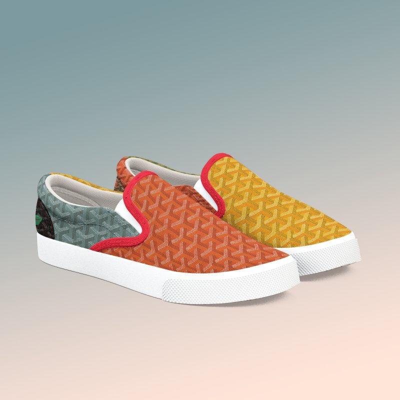 Jardin Goyard (Autumn) in Women's Slip-On Shoes by FWMJ's Shop