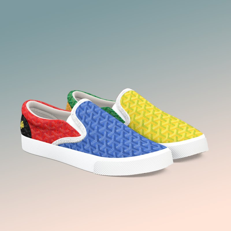 Jardin Goyard (Spectrum) in Women's Slip-On Shoes by FWMJ's Shop