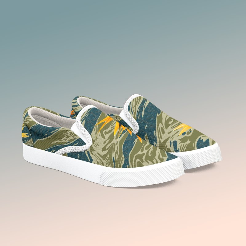 Tigers & Paradise in Women's Slip-On Shoes by FWMJ's Shop