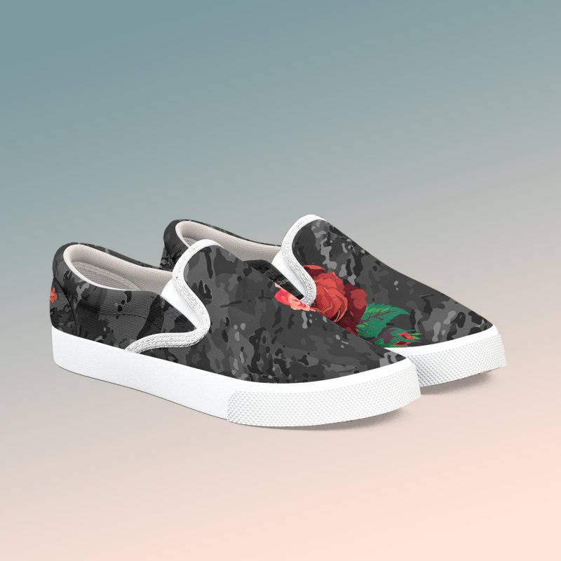 Florals & MultiCAM (Shadow) in Women's Slip-On Shoes by FWMJ's Shop