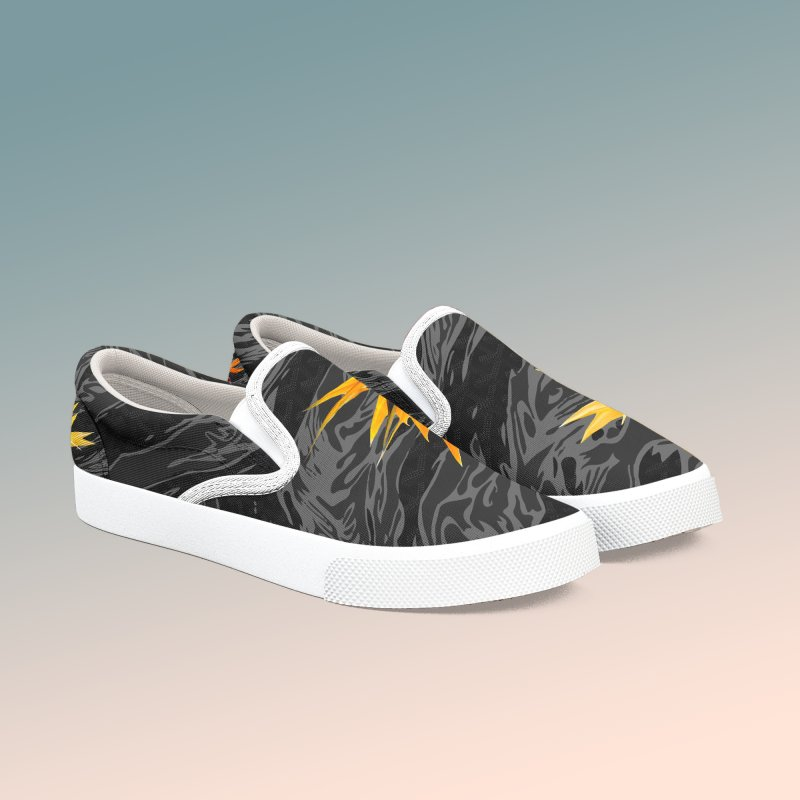 Tigers & Paradise (Shadow) in Women's Slip-On Shoes by FWMJ's Shop