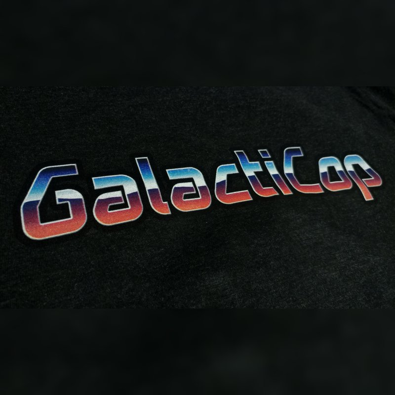GalactiCop Logo in Men's Triblend T-Shirt Heather Onyx by GalactiClothing by GalactiCop