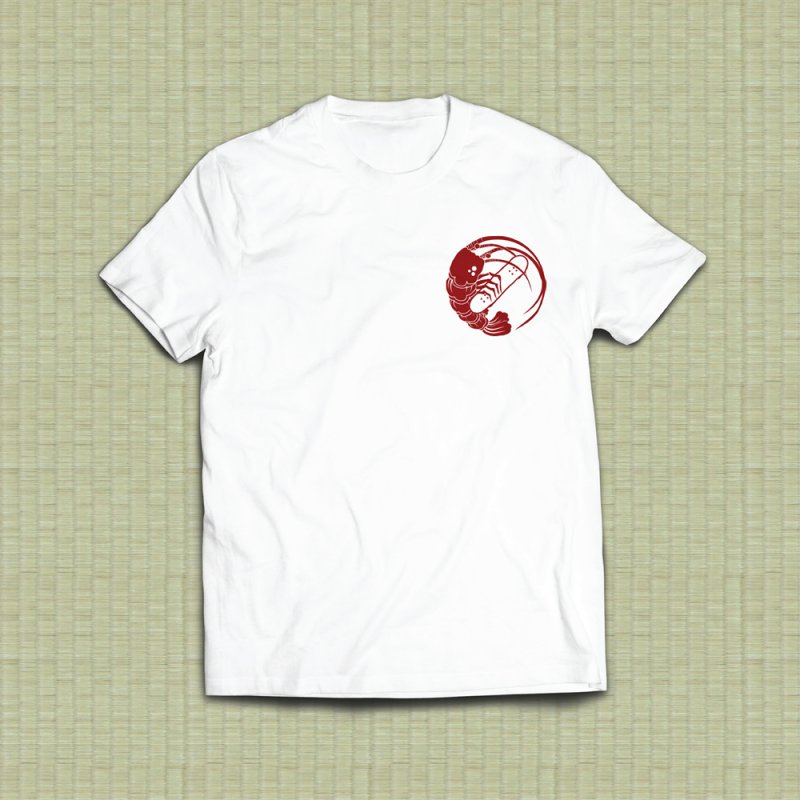 Gokudō Skateboards Logo Crimson in Men's Heavyweight T-Shirt White by Gokuten