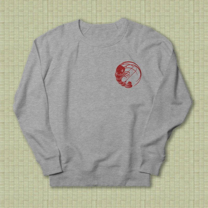 Gokudō Skateboards Logo Crimson in Men's French Terry Sweatshirt Heather Graphite by Gokuten