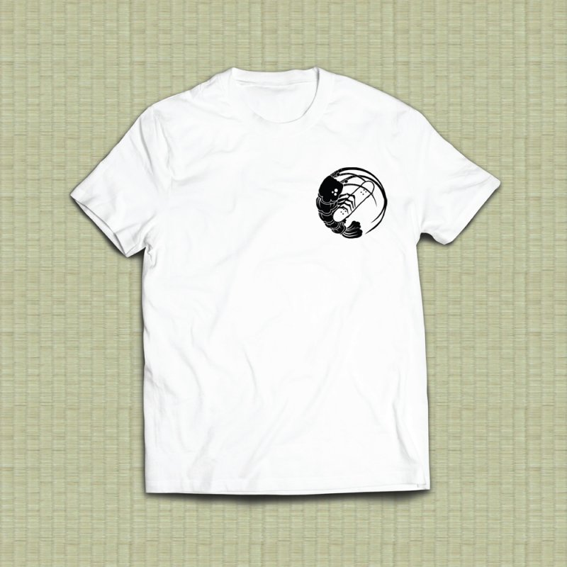 Gokudō Skateboards Logo Black in Men's Heavyweight T-Shirt White by Gokuten