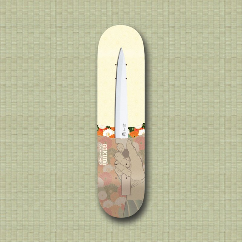 Gokudō Summer Cutter in Deck Only Skateboard by Gokuten