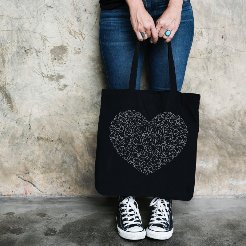 One and Only Valentine Typo | White Design in Tote Bag by GRAFIXD'S SHOP