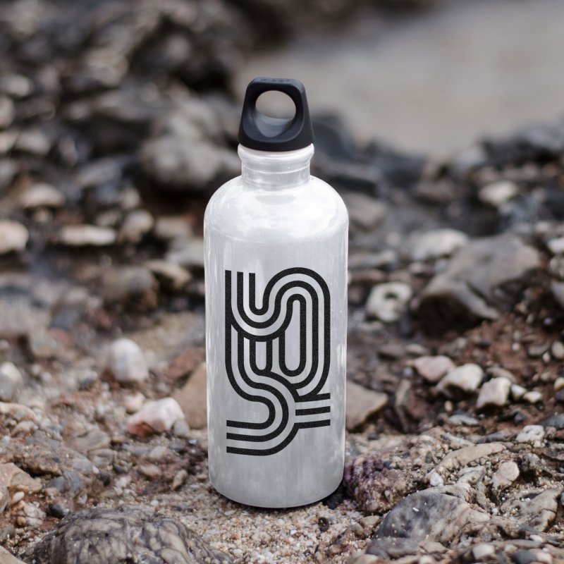 Yes Cool Typo | Black Design in Water Bottle by GRAFIXD'S SHOP