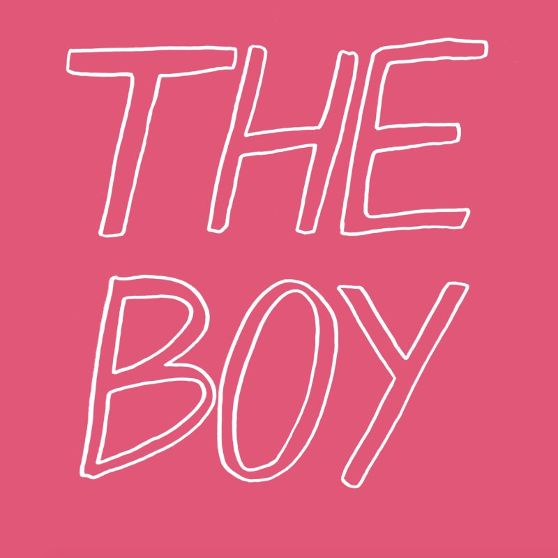 THE BOY in Men's T-Shirt Fuchsia by HIGU ROSE
