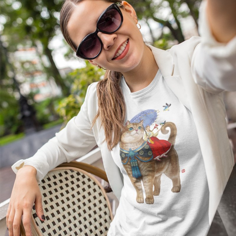 Hosico Hanbok in Women's Fitted T-Shirt White by Hosico's Shop