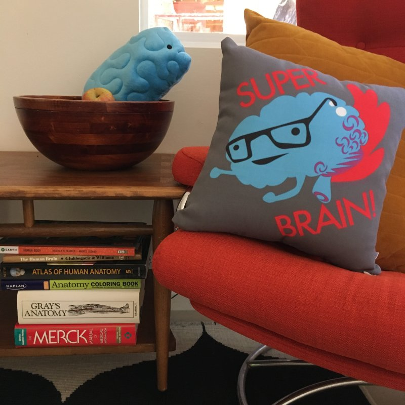 Super Brain! in Throw Pillow by I Heart Guts