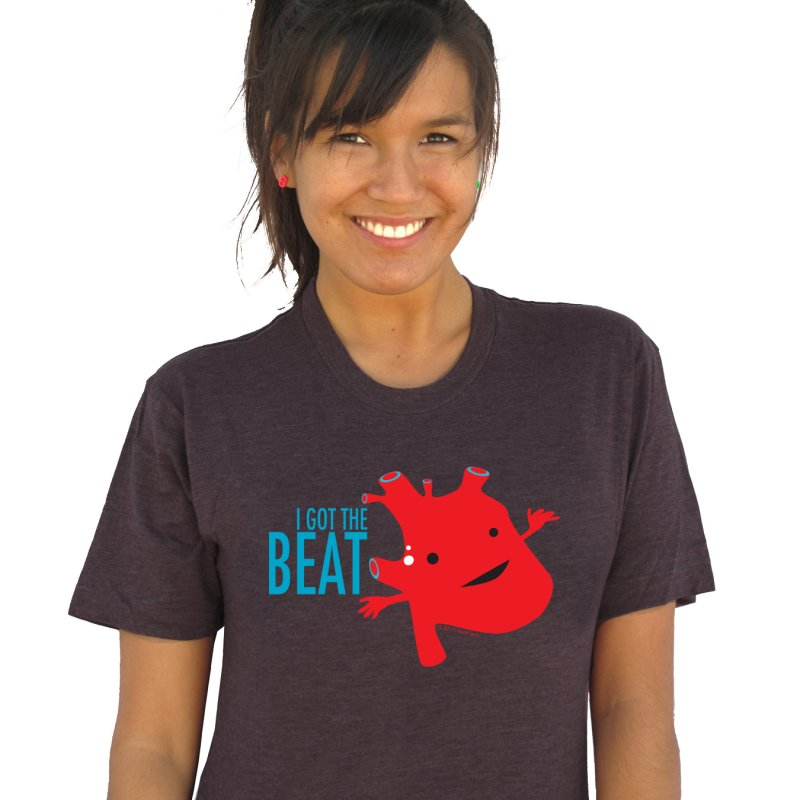 Heart - I Got The Beat in Women's Triblend T-Shirt Heather Onyx by I Heart Guts