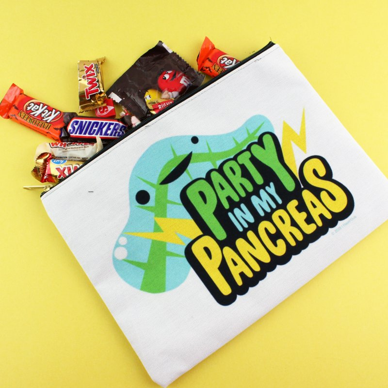 Party in My Pancreas in Zip Pouch by I Heart Guts