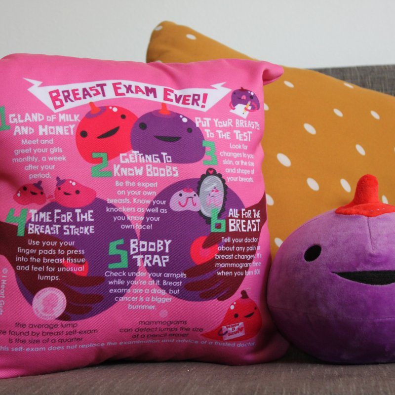 Breast Exam Ever in Throw Pillow by I Heart Guts