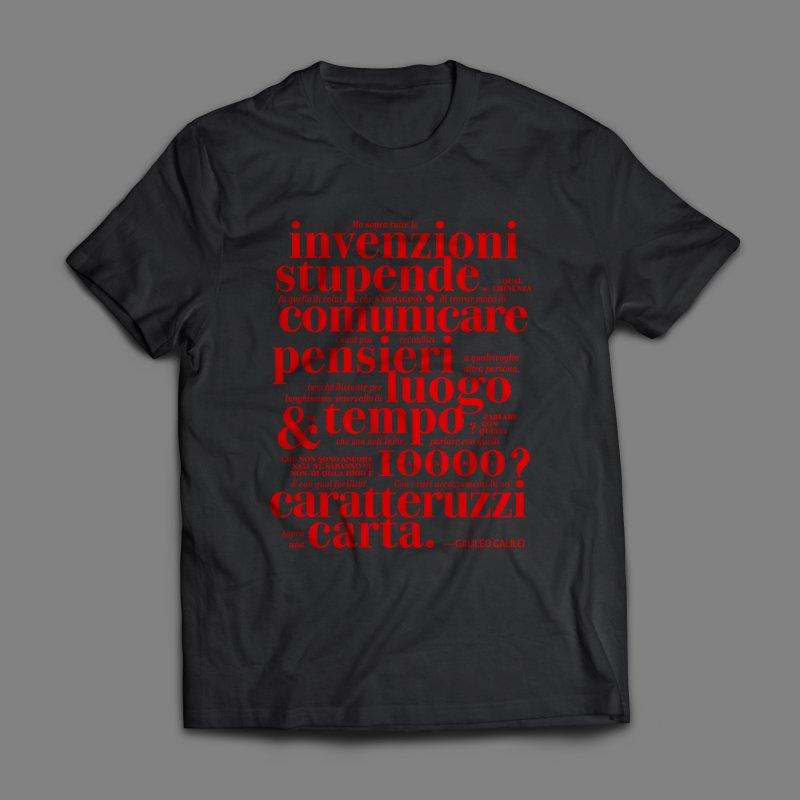 Caratteruzzi / Red on White & Black ed. by ilpiac