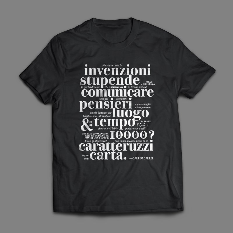 Caratteruzzi / White on Black ed. by ilpiac