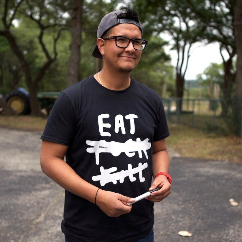 Eat Fuck Kill (black) in Men's Regular T-Shirt Black by James Victore's Artist Shop