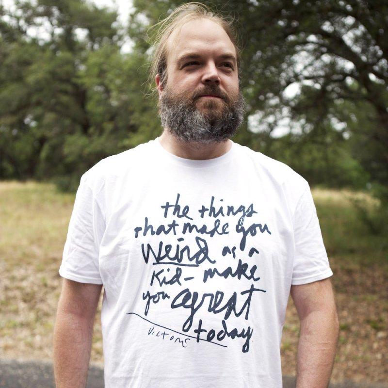 Weird Kid in Men's T-Shirt White by James Victore's Artist Shop