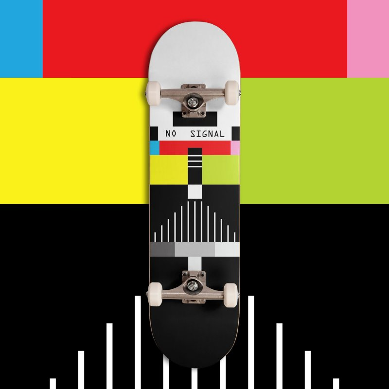 The Dark Side of the TV in Deck Only Skateboard by Jana Artist Shop
