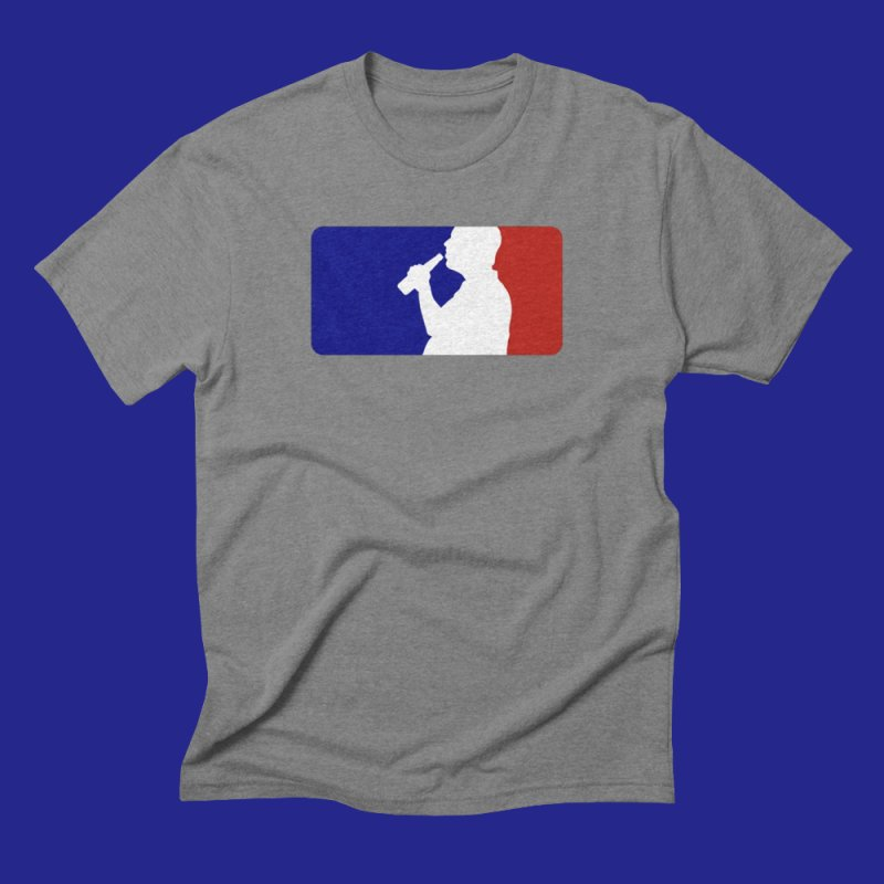 Major League Drinking Logo in Men's Triblend T-Shirt Grey Triblend by Jerkass