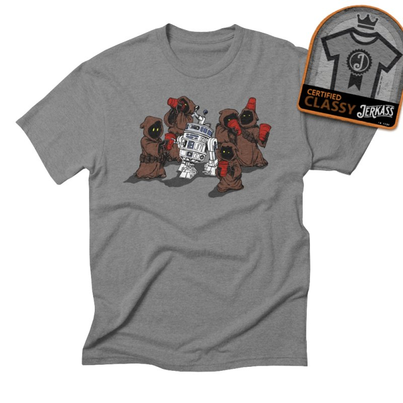 Tap That Droid in Men's Triblend T-Shirt Grey Triblend by Jerkass