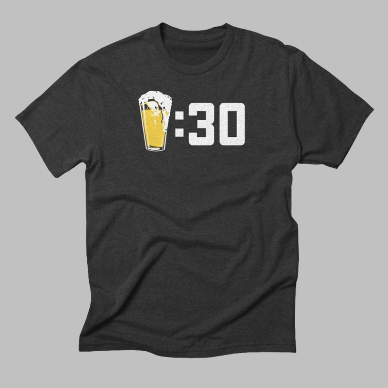 Beer : 30 in Men's Triblend T-Shirt Heather Onyx by Jerkass